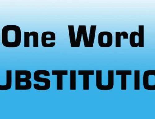 SSC CGL 2018 One Word Pdf – 1000 One Word Substitution pdf
