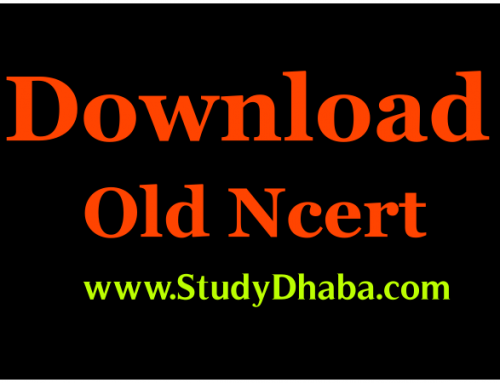 Download Old NCERT books PDF Free -Hindi & English