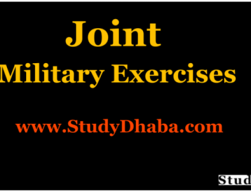 Joint Military Exercises India PDF Download 2018,2017,2015,2016,