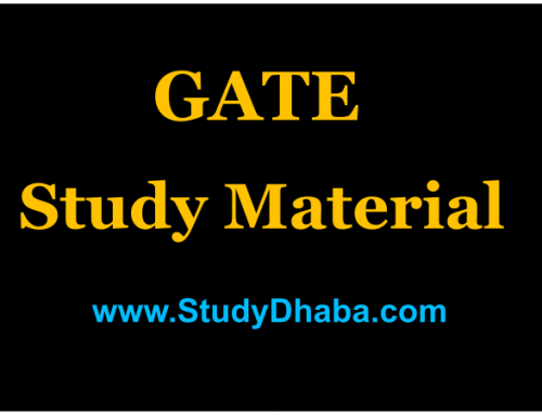 GATE 2018 Electrical Engineering Study Material pdf -Notes