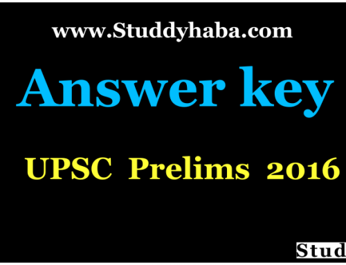 UPSC Prelims 2016 Official Answer key Pdf – CSAT IAS 2016 Answer Key