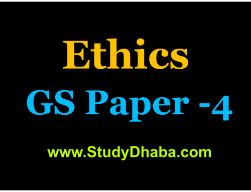 GS Score Guidelines Ethics Case Study Analysis For UPSC 2019