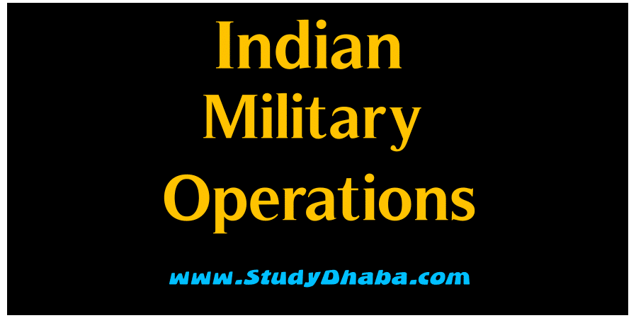 Important Military Operations India Pdf Download - GK India