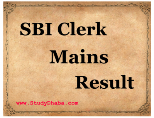 SBI Clerk Mains Result 2016 -Delayed Check Latest Updates SBI Clerk