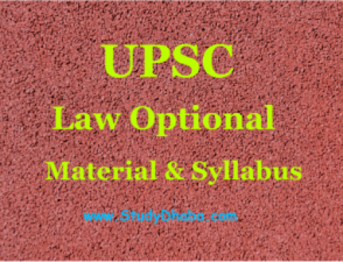 Law optional Material Pdf – UPSC CSE Mains Law Syllabus Pdf Download