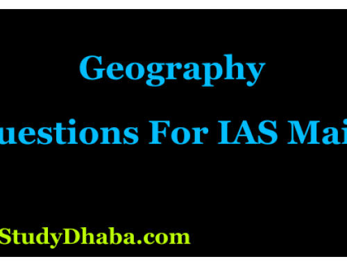 Indian Geography MCQs PDF Download | Mains For UPSC