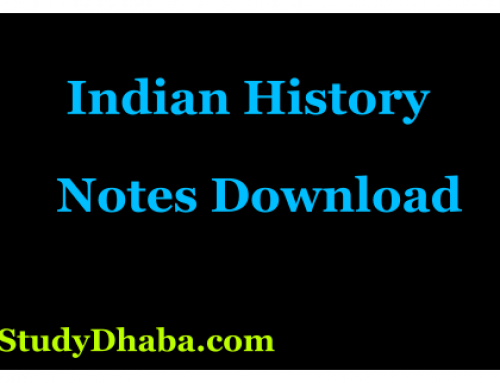 Prehistoric Ancient History Ncert Notes Download – UPSC,SSC,SSC CPO
