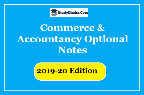 Commerce optional Study Material Pdf Download 2019-20 Edition