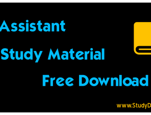 RBI Assistant Study Material Pdf Download -RBI Assistant Notes 2018