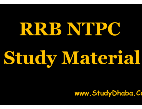 Rrb ntpc exam study material pdf 2016 for Mains Stage
