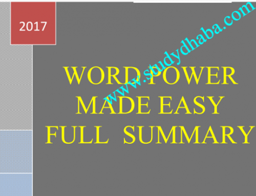 word Power Made Easy Book Full Summary pdf Latest Edition