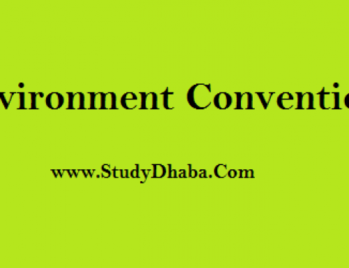 UPSC prelims 2018 Environment Conventions List Notes