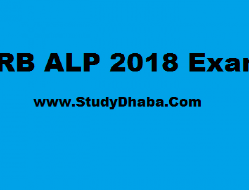 RRB ALP Study Material pdf Download Hindi & English – RRB ALP 2018