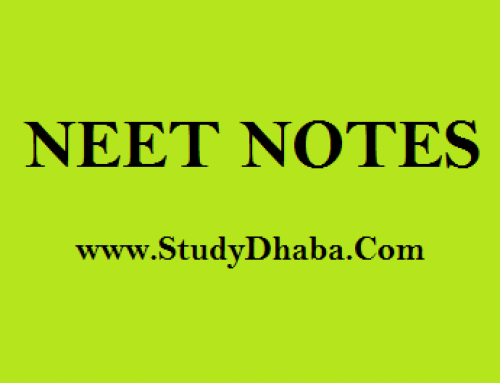 NEET study material free download – NEET Notes Pdf Download Free