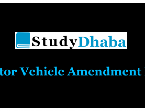 Discuss Salient features of Motor Vehicles Amendment Bill 2017 – GS Paper 2