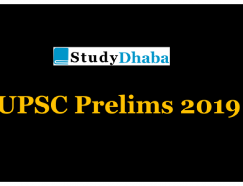 StudyDhaba IAS Prelims 2019 Test 8 With Solution For UPSC 2019