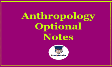 Target IAS Anthropology Optional Notes Pdf Download