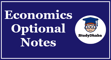 Kalinga IAS Economics Optional Notes Pdf Download