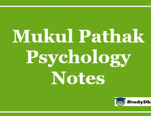 Mukul Pathak Psychology Notes PDF Vajiram & Ravi Latest Batch