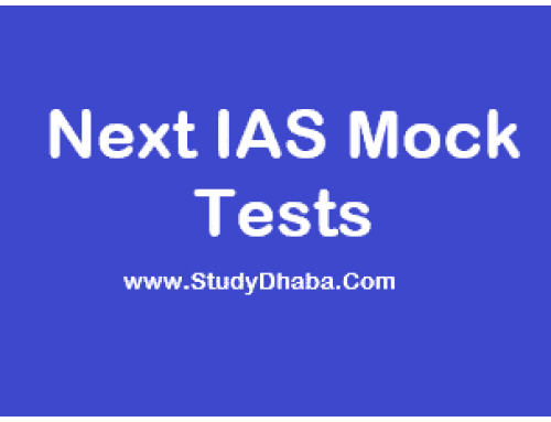 Next IAS Prelims Test Series 2021 Pdf Download With Solution
