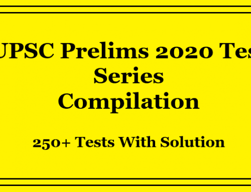UPSC Prelims 2020 Test Series Compilation Pdf | 250+ Mock Tests
