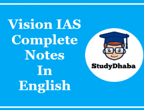 Vision IAS Complete Study Material In English Pdf [ 27 Booklets ]