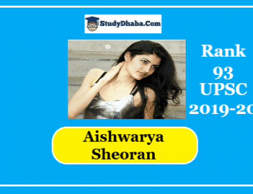 Aishwarya Sheoran IAS Marks | Optional | Strategy | Age | Attempts