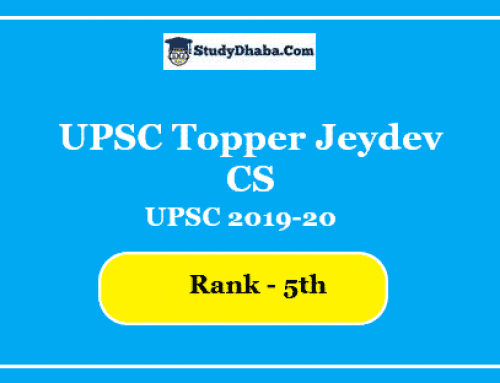 UPSC Topper Jeydev CS Marks | Optional | Notes | Strategy