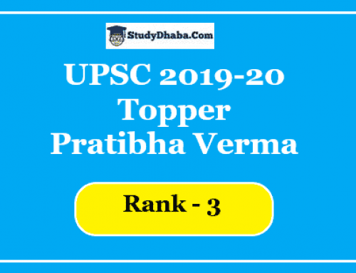 UPSC Topper Pratibha Verma Marks | Optional | Strategy, Notes