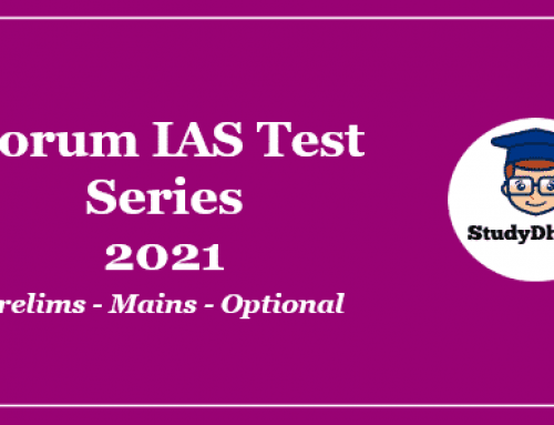 Forum IAS Prelims Test Series 2021 Pdf Download With Solution