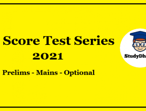 GS Score Prelims Test Series 2021 Pdf Download With Solution