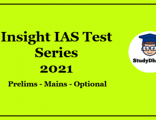 Insight IAS Prelims Test Series 2021 Pdf Download With Solution