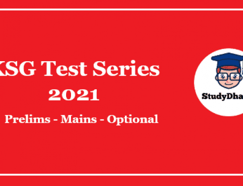 KSG Prelims Test Series 2021 Pdf Download With Solution