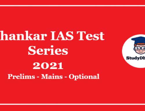 Shankar IAS Prelims Test Series 2021 Pdf Download With Solution