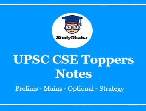 UPSC Toppers Handwritten Notes Pdf Download Eng & Hindi