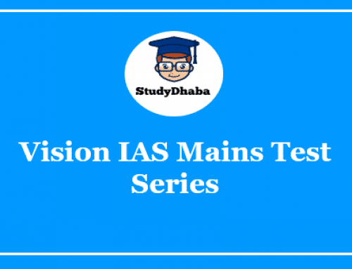 Vision IAS Mains Test Series Pdf Download