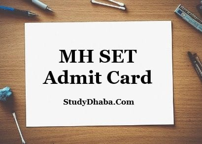 MH Set Admit Card Download Pdf 2021 | unipune.ac.in MH SET Hall Ticket