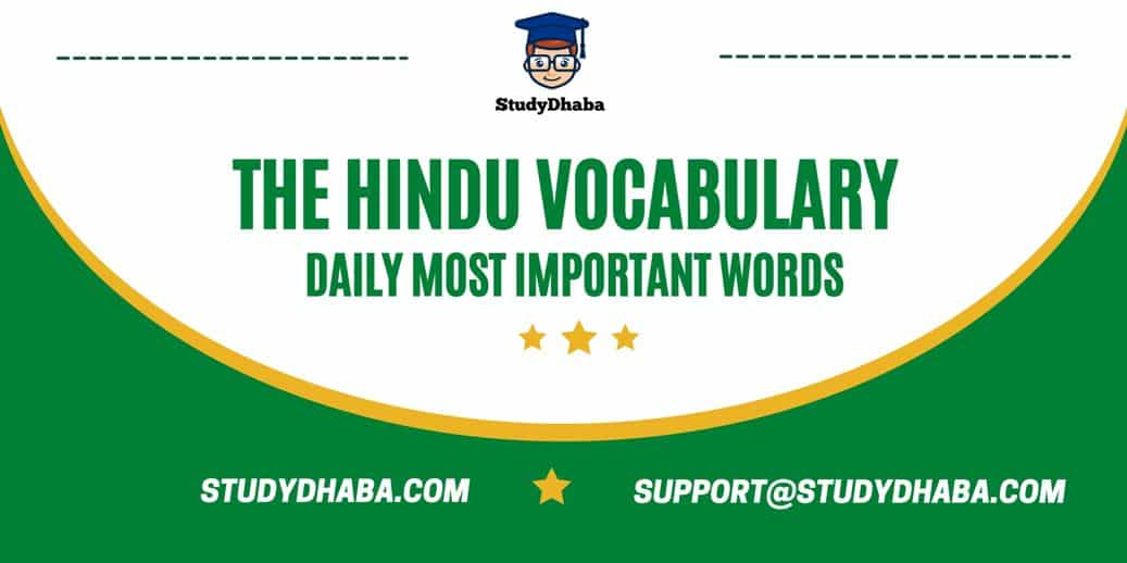 The Hindu Vocabulary PDF Download   Daily Vocabulary & Monthly PDF